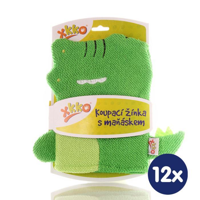 XKKO Pacynka kąpielowa (BA) - Crocodille 12x1szt. (Hurtowe opak.)