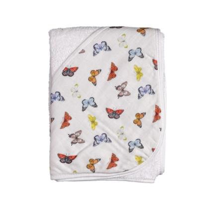 Bambusowy ręcznik z  kapturem XKKO BMB 90x90 - Butterflies