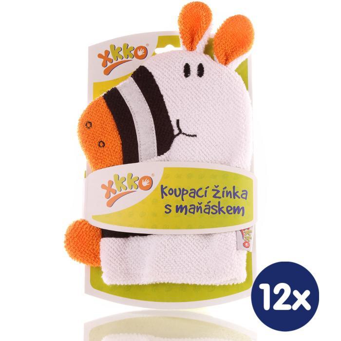 XKKO Pacynka kąpielowa (BA) - Zebra2 12x1szt. (Hurtowe opak.)