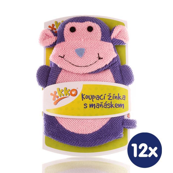 XKKO Pacynka kąpielowa (PE) - Monkey 12x1szt. (Hurtowe opak.)
