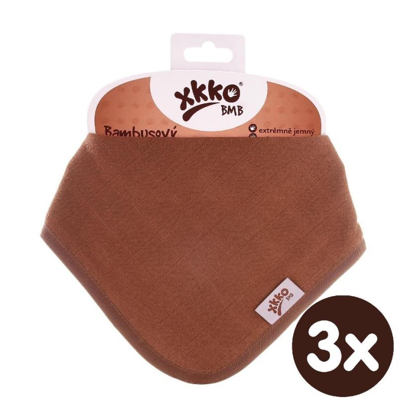 Bandanka bambusowa XKKO BMB - Milk Choco 3x1szt. (Hurtowe opak.)