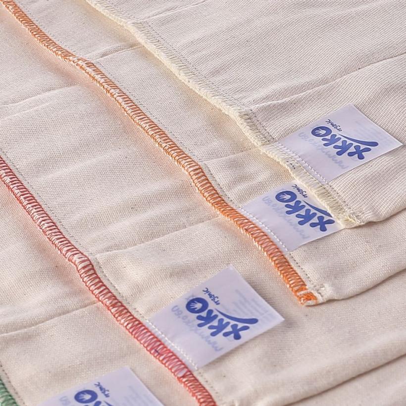 Prefoldy z bawełny organicznej XKKO Organic (4/8/4) - Regular Natural