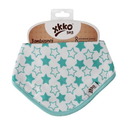 Bandanka bambusowa XKKO BMB - Little Stars Turquoise