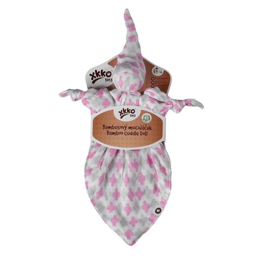 Przytulanka bambusowa XKKO BMB - Baby Pink Cross