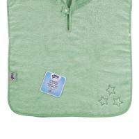 Ponczo kąpielowe z bawełny organicznej XKKO Organic - Mint Stars 5x1szt. (Hurtowe opak.)