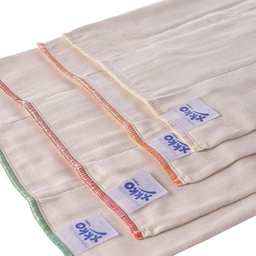 Prefoldy z bawełny organicznej XKKO Organic (4/8/4) - Newborn Natural 6x6szt. (Hurtowe opak.)