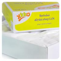 Bawełniane pieluchy muślinowe o dużej gęstości XKKO LUX 80x80 - Białe 20x10szt. (Hurtowe opak.)