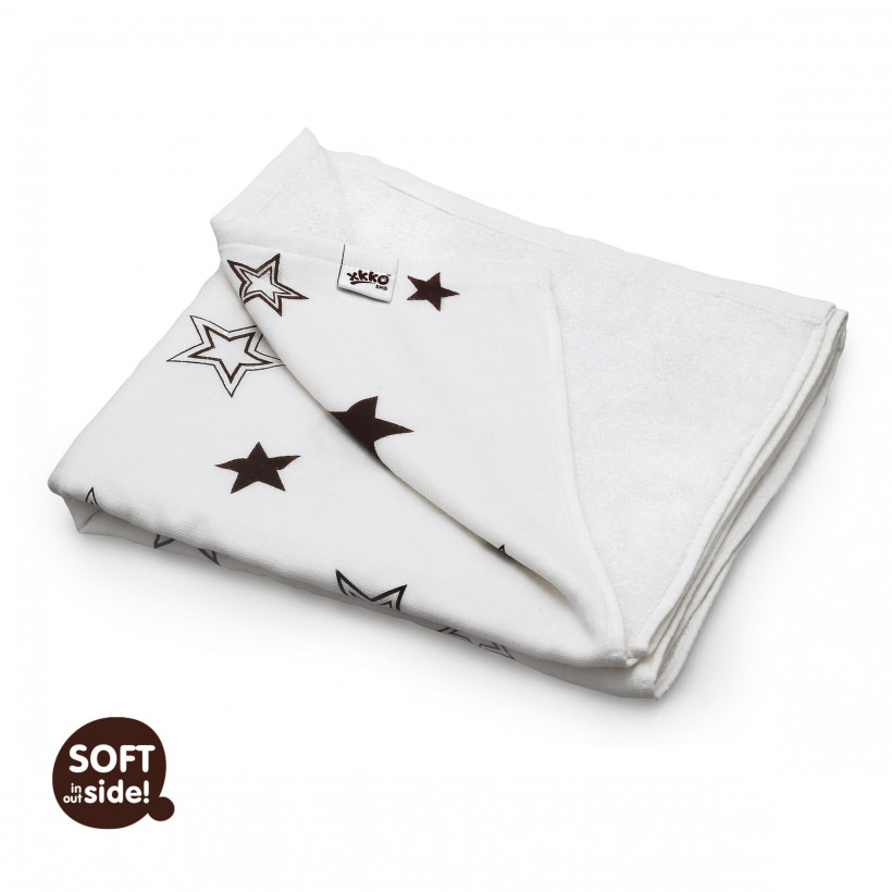 Kocyk bambusowy XKKO BMB 130x70 - Natural Brown Stars