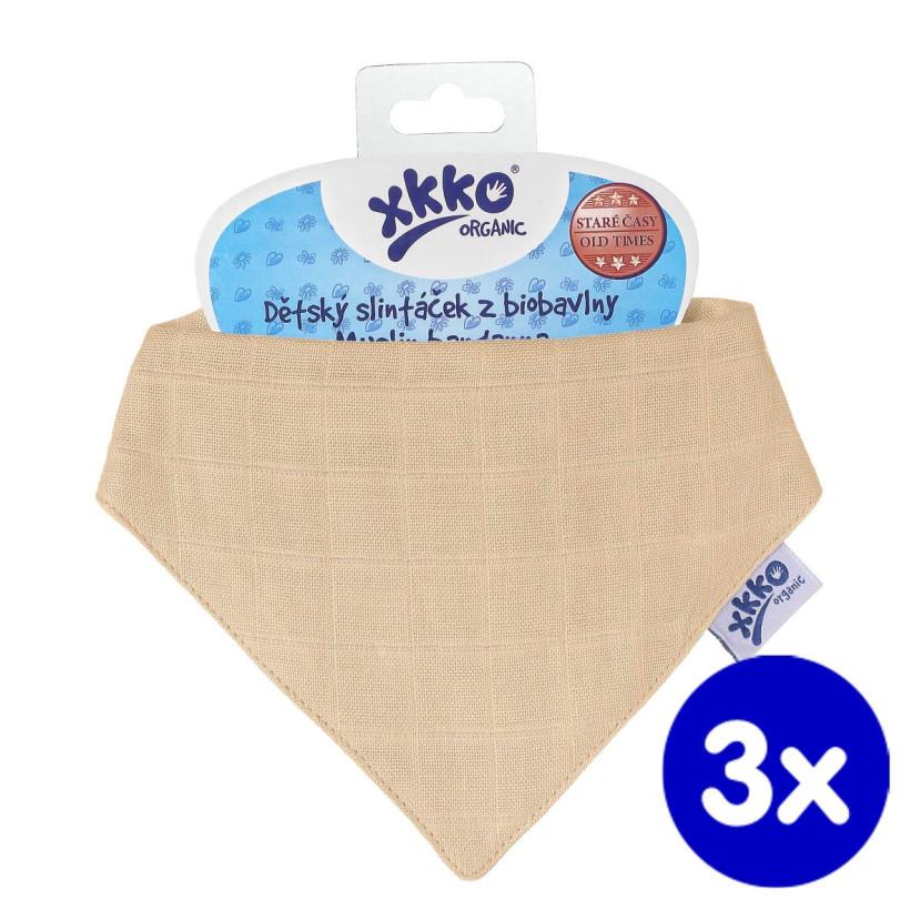 Bandanka XKKO Organic Stare Czasy - Summer Peach 3x1szt. (Hurtowe opak.)