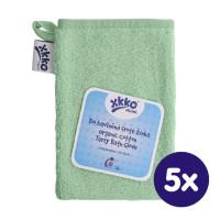 Rękawica kąpielowa z bawełny organicznej XKKO Organic - Mint 5x1szt. (Hurtowe opak.)