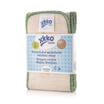 XKKO Organic Old Times Wkład chłonny - Natural Rozmiar L 2 szt.