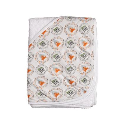 Bambusowy ręcznik z  kapturem XKKO BMB 90x90 - Fox&Raccoon