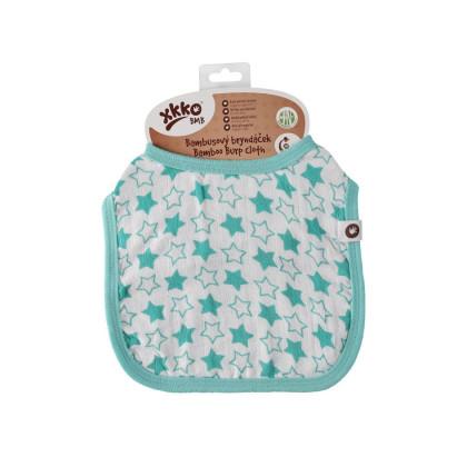 Bambusowy śliniak XKKO BMB - Little Stars Turquoise