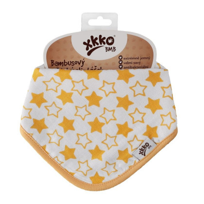 Bandanka bambusowa XKKO BMB - Little Stars Orange