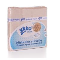 Pieluszki XKKO Organic 70x70 Organic  Bird Eye - Natural 5x5szt. (Hurtowe opak.)
