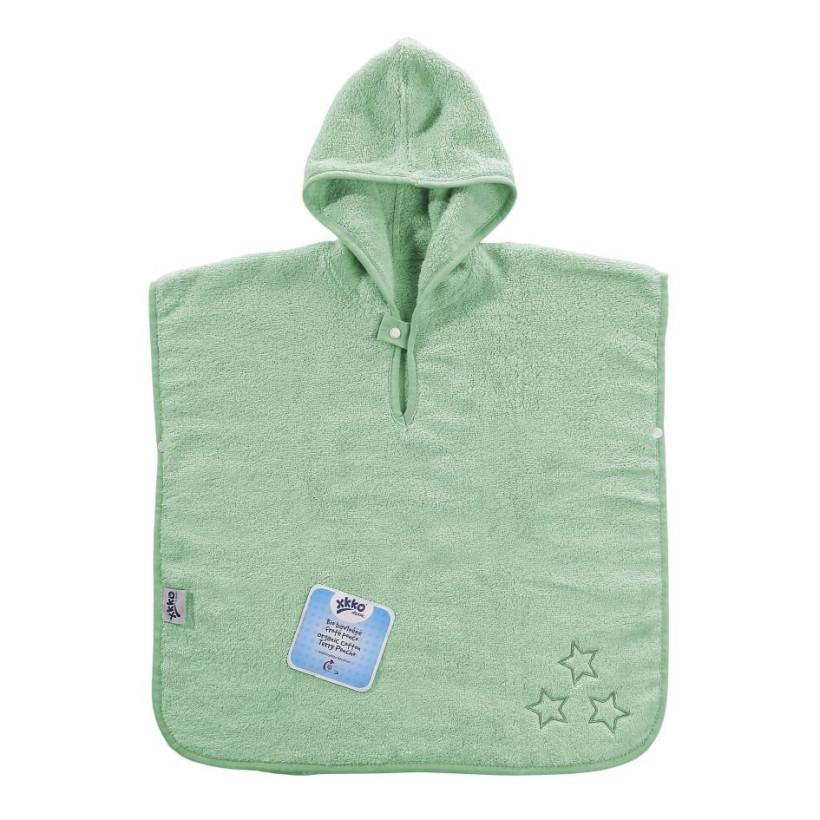 Ponczo kąpielowe z bawełny organicznej XKKO Organic - Mint Stars