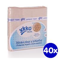 Pieluszki XKKO Organic 70x70 Organic  Bird Eye - Natural 40x5szt. (Hurtowe opak.)