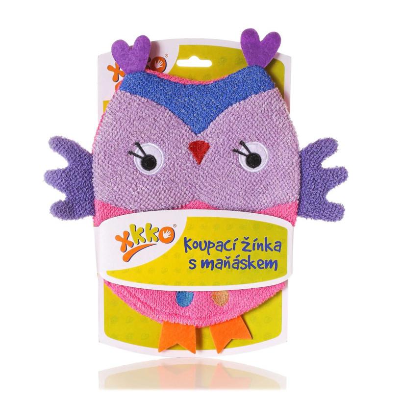 XKKO Pacynka kąpielowa (BA) - Owl2 12x1szt. (Hurtowe opak.)