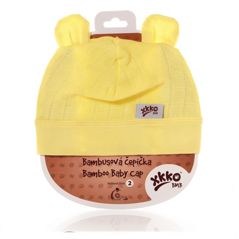 Czapka bambusowa XKKO BMB - Lemon