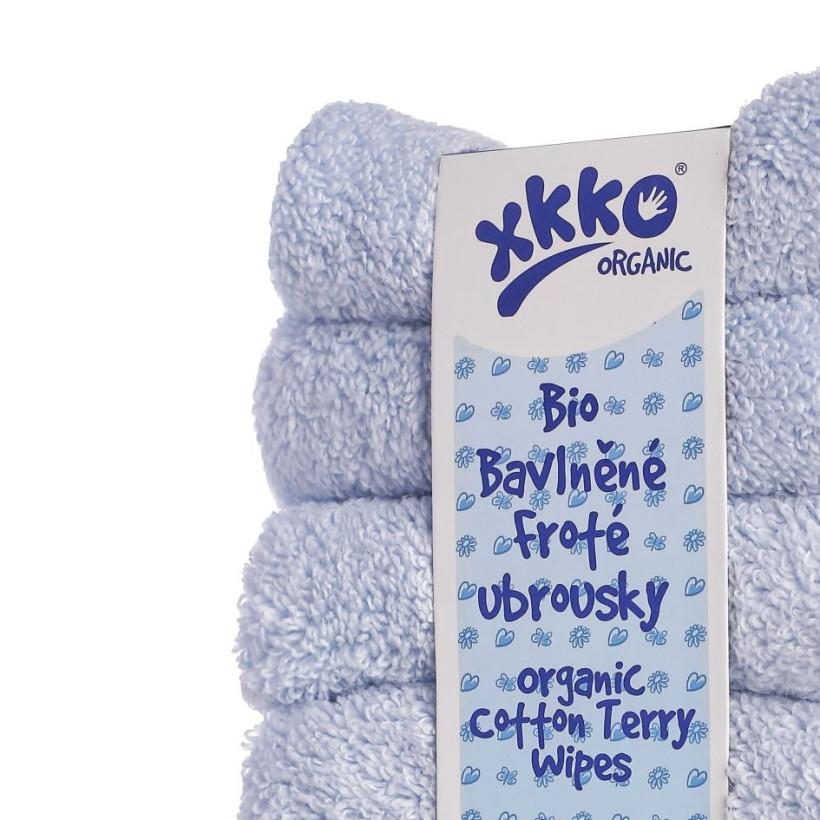 Frotte serwetki XKKO Organic 21x21 - Baby Blue 5x6szt. (Hurtowe opak.)