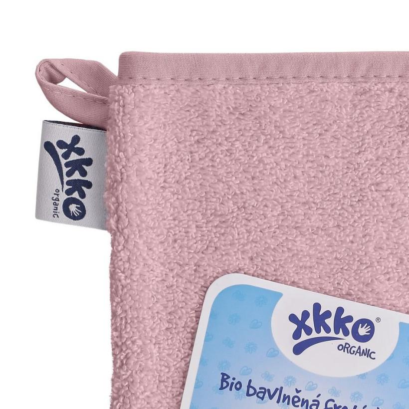 Rękawica kąpielowa z bawełny organicznej XKKO Organic - Baby Pink