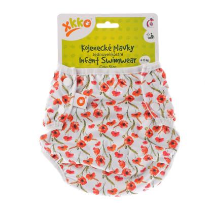 Strój kąpielowy dla niemowląt XKKO OneSize - Red Poppies