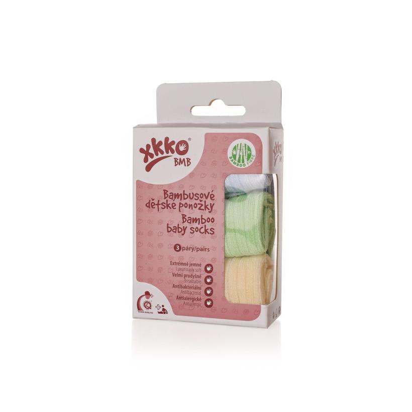 Skarpetki bambusowe XKKO BMB - Pastels For Boys (Hurtowe opak.)