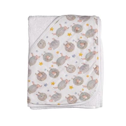 Bambusowy ręcznik z  kapturem XKKO BMB 90x90 - Dreamy Sheeps
