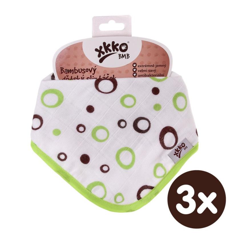 Bandanka bambusowa XKKO BMB - Lime Bubbles 3x1szt. (Hurtowe opak.)