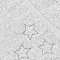 Ręcznik z kapturkiem z bawełny organicznej XKKO Organic 90x90 - White Stars