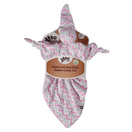 Przytulanka bambusowa XKKO BMB - Baby Pink Chevron