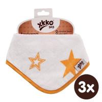 Bandanka bambusowa XKKO BMB - Orange Stars 3x1szt. (Hurtowe opak.)