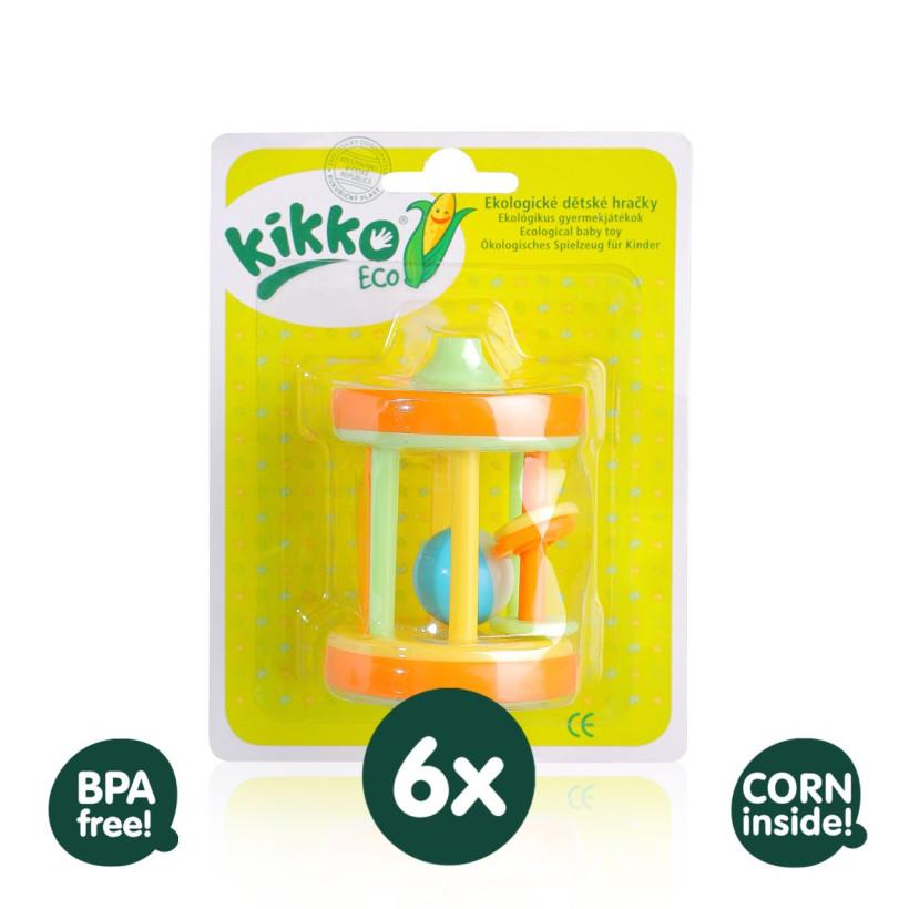 Zabawka ekologiczna XKKO ECO - Bębenek  6x1 szt. ( Hurtowe opak.)