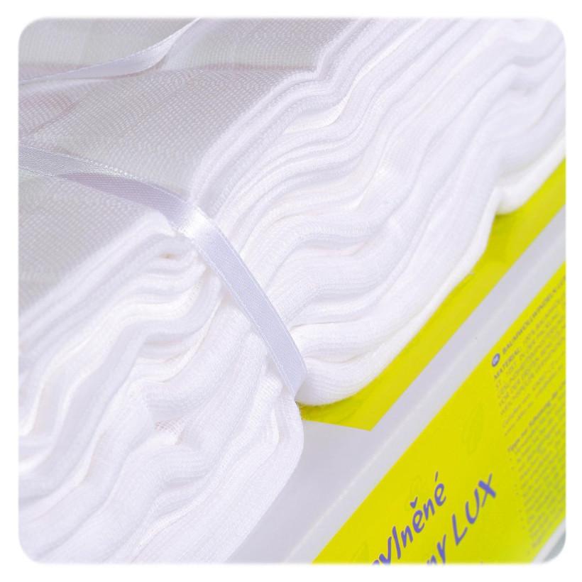 Bawełniane pieluchy muślinowe o dużej gęstości XKKO LUX 70x70 - Białe
