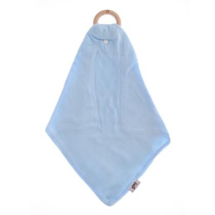 Gryzak bambusowy XKKO BMB z muślinem - Baby Blue