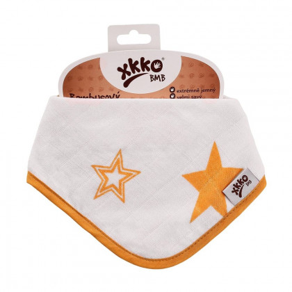 Bandanka bambusowa XKKO BMB - Orange Stars