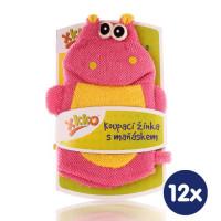 XKKO Pacynka kąpielowa (PE) - Hippo 12x1szt. (Hurtowe opak.)