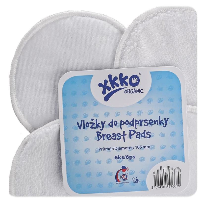 Wkładki laktacyjne XKKO Organic - Białe