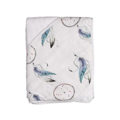 Bambusowy ręcznik z  kapturem XKKO BMB 90x90 - Dream Catcher