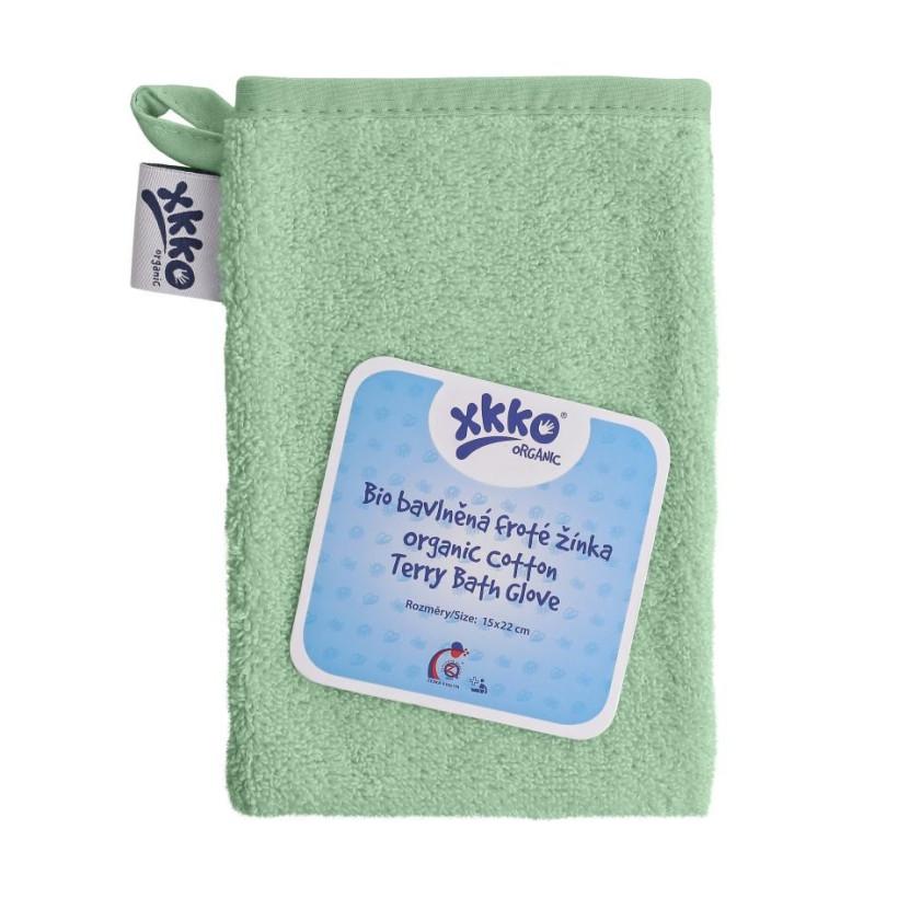 Rękawica kąpielowa z bawełny organicznej XKKO Organic - Mint