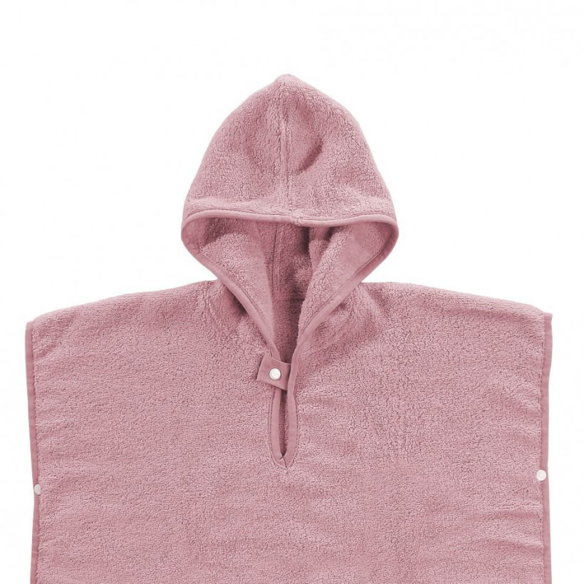 Ponczo kąpielowe z bawełny organicznej XKKO Organic - Baby Pink Stars 5x1szt. (Hurtowe opak.)