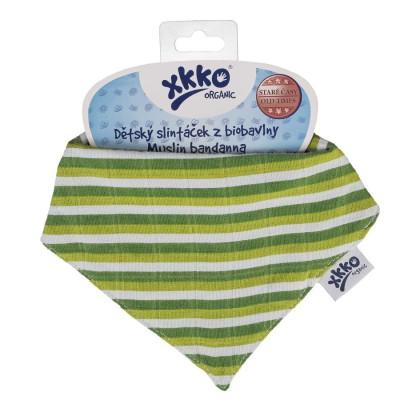 Bandanka XKKO Organic Stare Czasy - Green Stripes