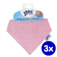 Bandanka XKKO Organic Stare Czasy - Light Pink 3x1szt. (Hurtowe opak.)