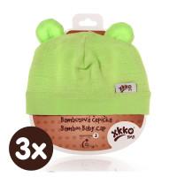 Czapka bambusowa XKKO BMB - Lime 3x1szt. (Hurtowe opak.)