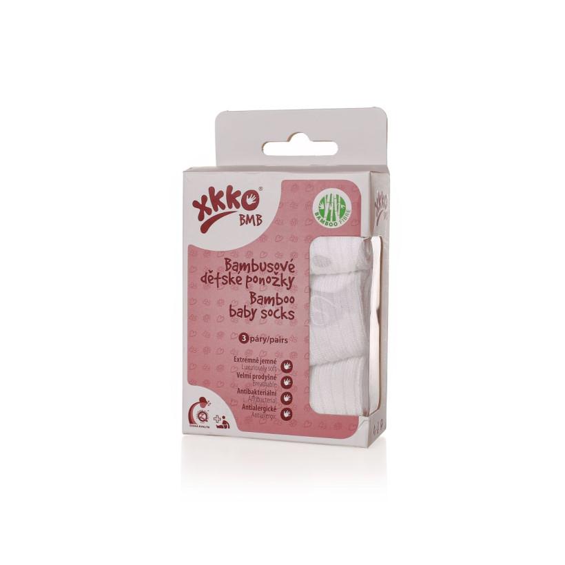 Skarpetki bambusowe XKKO BMB - Pastels White