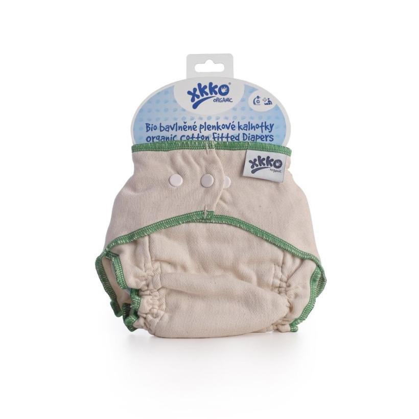 Wielorazowe pieluszki formowane XKKO Organic - Natural Rozmiar L