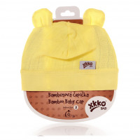 Czapka bambusowa XKKO BMB - Lemon 3x1szt. (Hurtowe opak.)