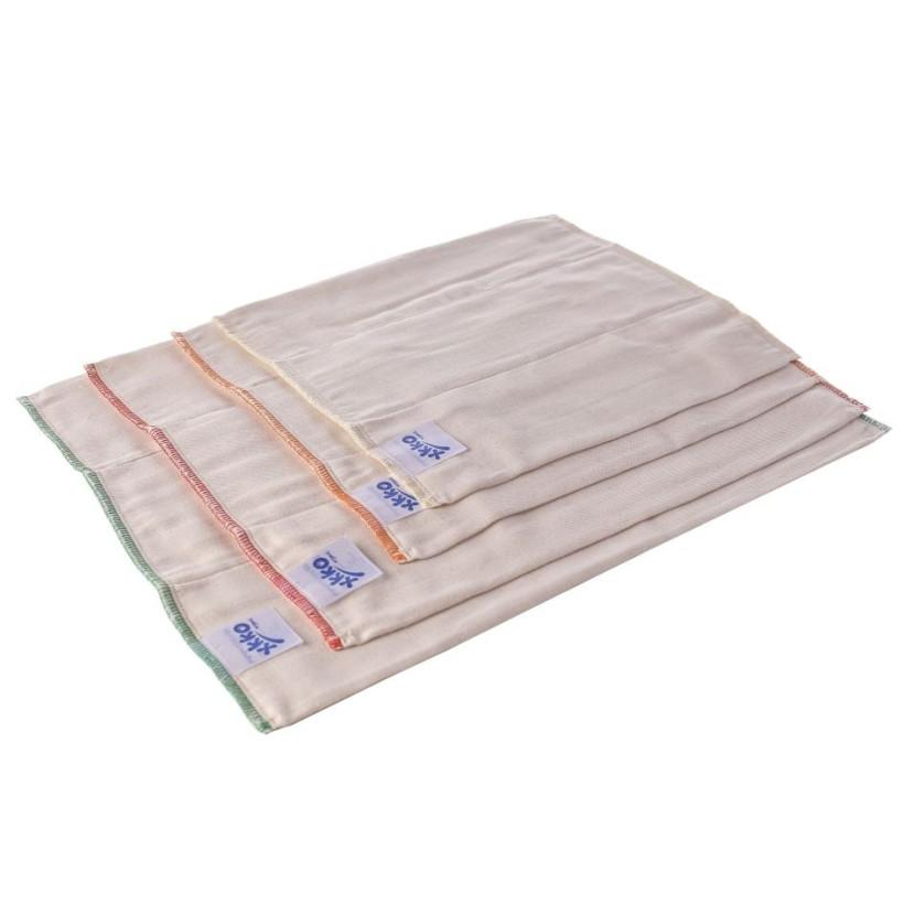 Prefoldy z bawełny organicznej XKKO Organic (4/8/4) - Premium Natural 6x6szt. (Hurtowe opak.)