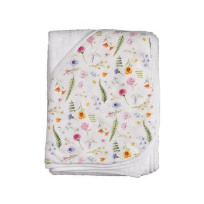 Bambusowy ręcznik z  kapturem XKKO BMB 90x90 - Summer Meadow