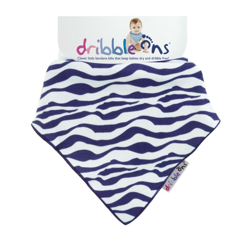 Dribble Ons Designer - Zebra 3x1szt. (Hurtowe opak.)